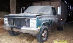 We have a 1988 GMC dump truck we want to sell. It is an 8 cylinder and has a gas engine with an automatic transmission, a 1 ton with dual rear tires. It looks rough but the engine and hoist are sound