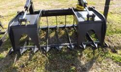 "6 Brand NEW Skid Steer type Universal Root & Rock Grapples SOLD 66""SUPER HEAVY DUTY Rock Grapples W/Replaceable Teeth $1650 SOLD 84""SUPER HEAVY DUTY Root Grapples $1700 84""XTREME HEAVY DUTY Root Grapp"