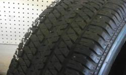 Nice Used set of Bridgestone Dueler size 235/65/16  all  Get free   mount  balance  installation  and warranty  we buy sell and trade good used tires and rims  we have over 10,000 good used tires & wh