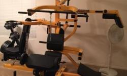 Powertec 3 station home gym with 300+ pounds of free weights. Second owner like new $1800 brand-new. OBO This ad was posted with the eBay Classifieds mobile app.