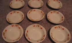 Excellent condition: No chips, cracks, or crazing. Bowls measure 5.5 inch diameter, 2 inches height.