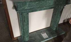 These are beautiful hand carved MARBLE mantles. The marble style cannot be replicated and is one of a kind. These normally range $3000-$5,000 a set. (Google it!) Letting them go for $1200 each!!! Whil