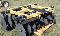 This is a brand new 3 point hitch harrow never used it has sealed bearings. Call Scott at 706-260-5532 CASH sells only NO SPAM  Location: DALTON GA