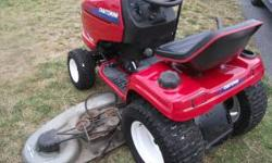 GT 5000 Series Heavy Duty Craftsman Tractor Hydrostatic Drive 46 Inch Heavy Duty Wide Deck 18 Horse Power Briggs & Stratton Twin Opposed IC Engine 1. Smooth Steering 2. Hydrostatic Drive ( Easy Operat