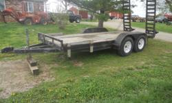 Shop built, heavy duty, excellent quality flatbed trailer with 16 ft. deck and heavy duty ramps. $1950 obo. Phone # 417-224-3688. // //]]> Location: Ash Grove, MO
