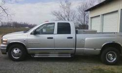 This is a 2006 Dodge Ram 3500 it has less than 79,000 miles on it. It has been kept in a garage and is in immaculate condition! This Dodge Ram 3500 is a 5.9 Cummins turbo diesel with a 6 speed manual