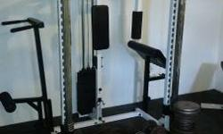 Complete home gym, used but everything works great comes with all the weights and everything pictured. Any questions just ask.
