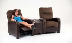 Descripción Theater seating recliner - $159 Home theater Recliner: $159 Enjoy the new theater seating with build- in recliner at lowest price in town. This single seating can be arrange to have more