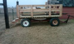 New people hauler. Never used. All green treated lumber on a hay wagon frame. Great for a team wagon. I would be willing to trade this wagon for a young bred Angus or Herford cow. No text messages or