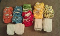 Very large cloth diaper lot. Bought recently, they dont fit my tiny premie baby. Only used a couple times, most never used at all. In new/ excellent condition. Baby land brand which is a great brand.