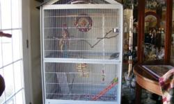 THIS IS A REALLY NICE ROOMY CAGE FOR MULTIPLE FINCHES, PARAKEETS, COCKATIELS, LOVE BIRDS, DOVES, GREEN CHEEKS ETC. I HAD BOUGHT IT TO USE AS A SECOND CAGE FOR MY PARAKEETS, BUT IT JUST WAS TOO BIG FOR