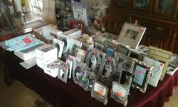 Looking to sell several hundred Wedding items , Picture frames , gifts and engagement items . Some of the items available are as follows ... Crystal , Wedding Frames , Wedding accessories , Memory boo