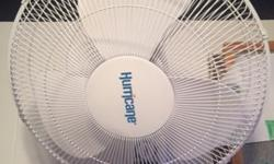 here I have a wall mounted Hurricane fan. it is 18in in diameter, works amazingly well. I have had it for less than a year. asking 25$. Can install it for 5$ extra
