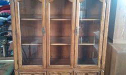 We have a fair cont hutch with glass shelves, double doors. Selling for $200. If you have any questions or want to see this, come and see us at Nicollet Consignment in downtown on 710 3rd street Nicol
