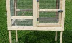 """Handmade Hutches in North Carolina - Great for quail, chickens and rabbits. Single hutch is 3x2 overall height 4 feet $100.00. Other size hutches available and are """"Custom"""" made to order, additional f"""