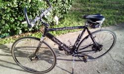 Fetisch Bike Hybrid Road MTB Components: - Disk Brakes - Riser Bars - Adjustable handlebar neck - Wide handle bars Palm grips - Thumb and finger shifter - Light weight frame - Crocodile skin racing ti