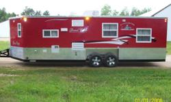 2012 Ice Castle R-V Grand Castle 24 ft Fish house, used twice last winter and stored in shed all summer,ele lift and wheels, smooth siding,large ref, bathroom, air, stove, mic,cedar inside,foam floor