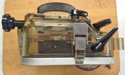 One owner, used once, in original box. Excellent condition, clear lens piece, all rubber good, ready to use. Worked with my 35mm Konica 50mm f1.4 lens.I might be persuaded to also sell my silver Konic