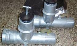 "BAND & LATCH IN-LINE VALVE TEE SET TRAVIS PATTERN MANUFACTURED MODEL WBLSUVT-L444. 4"" BAND AND LATCH BY 4"" VALVE $85.00 EACH. 406-245-6139 Location: BILLINGS, MT"