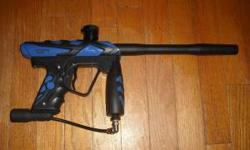 I have a blue smart parts ion and a tippmann 98 custom paintball gun, both guns are in good condition. The smartparts ion shoots 18 bps (balls per second). It comes with black and silver bodykits, New