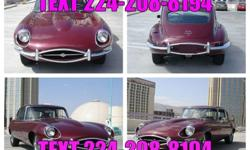 This 1968 Jaguar XKE 2+2 Coupe features a 4.2L 6-Cyl. cyl Gasoline engine. It is equipped with a 3 Speed Automatic transmission. The vehicle is Burgundy with a Burgundy Vinyl interior. It is offered A