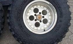 Found in Tulsa, may deliver for extra cost. Call or text 9188295786.  I have a set of 5 33x12.5 x15 Interco TSL Super Swamper Radials with wheels for sale 5x4.5 (tj, yj, xj). These are the good ones w