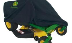 This EZtrak riding mower cover provides protection against sun damage, rain, dust, birds and tree sap. The heavy-duty fabric won't shrink or stretch and is coated for maximum water resistance and repe