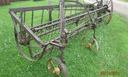 John Deere Hay Rake Antique implement for yard art or old time haying demonstrations It is straight and complete. $400 BO 507-847-3745 // //]]> Location: Jackson, MN