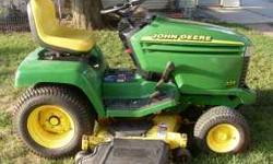 """335 Power Steering, 20hp, 48"""" hydro twin touch deck. great shape, except hood had been cracked but fixed. 332 hours. Runs good. Need to sell 608-822-7825 Location: Fennimore, WI"""