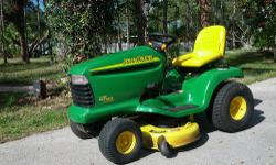 """Here's a John Deere model LT 160. with a 42"""" EDGE deck; These models are heavier duty and better built than the ones you buy at Home Depot. They are actually built at the John Deere Company. This one"""