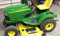 This might be the last lawn tractor you every have to buy! This 2002 John Deere X495 DIESEL (SN# MOX495C010282) lawn tractor has every option available...INCLUDING ALL-WHEEL-STEER!!!! It is truly the