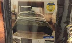 Comforter is reversible with a solid, rich brown underside! Comes with: Decorative Pillow, King Sheet, Two King Pillow Cases, and Two King Pillow Shams. We got this for Christmas and used only the com