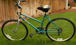 """Cruise and tour town in style riding this Turquoise Spalding Blade ATB 12 Speed Ladies bike is in excellent condition. It's been cleaned, tuned, and lubed and is ready to ride! Features:  18.5"""" frame"""