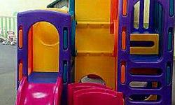 FOR SALE. Little Tikes Playground for ages 3-8. Has NEVER been outdoors. Has been used indoors for a day care center for less than one year. Is in nearly NEW condition! The only thing that can be stat