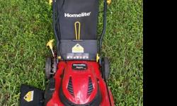 20 inch Homelite walk behind LAWN MOWER 407-600-XXXX3-in-1 option to Mulch, Bag, or Side DischargeLight weight Corded Electric gives RELIABLE EASY START every time with flick of a switch! (No more has