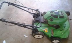 I have available a Lawnboy Silver Series 6.5hp, self propelled, mulching mower. This is for parts only or repair. The pull starter will not pull therefor it will not start. I already have a new mower