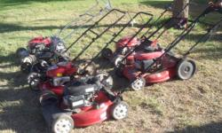 Honda, Craftsman, Troybilt, Scott's, Murray, Snapper lawn mowers. GE, Kenmore, Whirlpool, Maytag, Roper, and other brand names of washers, fridges and clothes dryers. Lawn mowers ranging from $125 for