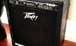 """Peavey TKO 115S Bass Guitar Amplifier Combo for Sale Works great, in used cond. Great amp with plenty of power 15"""" Sheffield speaker (speaker configuration 1 x 15) Very solid construction: Reinforced"""