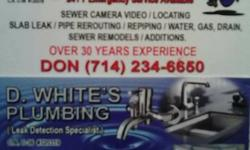 7days/6am -6 pm/holiday. Flat price quotes / Ahead of time investments Send picture & description of job or make exam program get in touch with info D. Whites plumbing (sole owner). CA. License C36 #