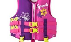 Speedo Child: Life Jacket (30-50 lbs.) U.S. Coast Guard Approved. Purchased at Target in June of 2015. Mint condition. Used once at a pool. Purchased for $29.99. Selling for $20. Cash and pick up only