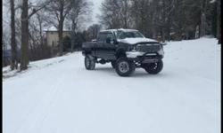 1999 f250 7.3 230,000 miles 15 grand in devices.  Customized cowl hood. Halo headlights. Bull bar. Metal chrome grill. 2010 tailgate. Custom drop hitch. Tinted windows complete cab. 18 Mickey Thompson