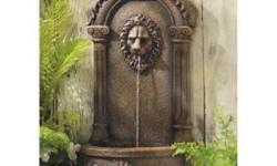 Free Shipping Inspired by European palace decorations, this faux stone fountain instantly creates an elegant impression. Graceful curves and classic lion's head theme add timeless to your surroundings