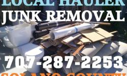 In Vacaville- Fairfield CA Solano County My Hauling Service offers fast effective scrap and particles removal solutions for junk removal, trash transporting, furnishings elimination, bed mattress remo
