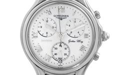 Combining extremely reliable practicality with spellbinding aesthetic quality, this magnificent timepiece from Longines boasts a number of useful functions on its brilliantly arranged dial while offer