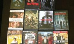 $3 a piece or $25 for all! We've upgraded to BlueRay, all of these are in excellent condition! Movies are: Pan's Labyrinth, Pulp Fiction, The Matrix, The Reader, Sucker Punch, Safe House, Inception, H