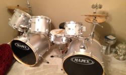 Used set of Mapex 7 piece set with 4 cymbal set. All accessories and pedals included. Set has made use of heads, however apart from that is in perfect condition. Awesome set to find out on or for seas