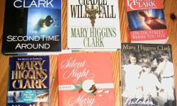 Mary Higgins Clark 6 books , new and used for sale:    second time around (brand new hardcover)  the cradle will fall  on the street where you live  we'll meet again (brand new softcover)  silent nigh