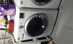 500.00 or best offer Only selling because I'm moving 2000 Series Washer MHWE200XW 3.5 cu ft has 12 wash cycles Dryer MEDE200XW 6.7 cu ft has 9 drying cycles stainless steel interior 27in wide 36 in ta