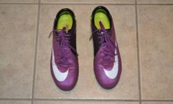 Mens Nike Mercurial Vapor VII FG Football Cleat. Red Plum Volt 441976-547. These were top-of-the-line for their production year. Whole lots of life still in them.  The Nike Mercurial Vapor VII Soccer