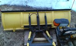 Meyer EZ classic / E47 series pump (electric over hydraulic) 71/2 foot rake.   Coming off my 1998 GMC k1500 Z71 4x4 with a 6.5 Turbo Diesel. Mount will fit Chevrolet and GMC. It was rebuilt and set up